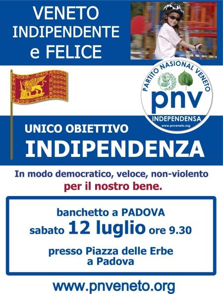Banchetto a Padova il 12 luglio 2008