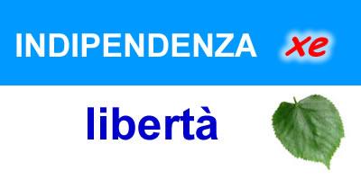 indipendenza xe libertà