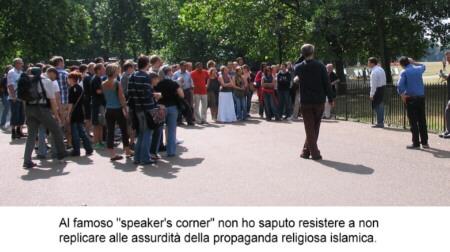 speaker's corner: impossibile tacere