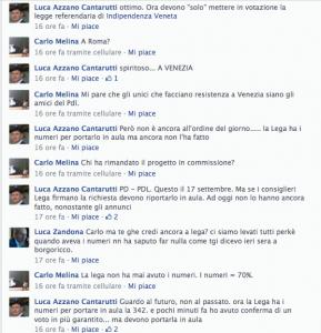 Luca Azzano Cantarutti dice bugie